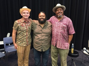 L-R Dom Turner, Joseph Tabua and Phil Wiggins